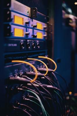 Foto van een server