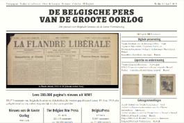 Interface website Belgische pers van de Groote Oorlog