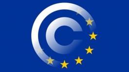 Europese vlag met copyright-teken