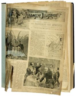 Afbeelding van een oude krant