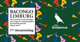 logo van bacongo limburg bestaat uit kleurrijke vuvuzelas tegen groene achtegron