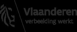 Logo Vlaamse Overheid met bijschrift 'Vlaanderen. Verbeelding werkt'