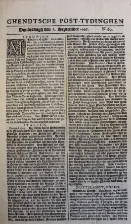 Ghendtsche post-tydinghen; krant