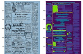 OLR van een historische krantenpagina