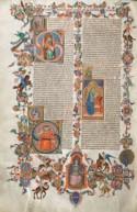 Folio uit de Bijbel van Anjou