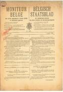 Voorpagina Belgisch Staatsblad