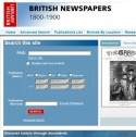Schermafbeelding website 'British Newspapers 1800-1900'
