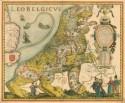 Kaart uit 1617 met Leo Belgicus