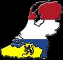 Kaart Nederland-Vlaanderen