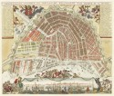 Stadsplattegrond van Amsterdam van Daniel de la Feuille