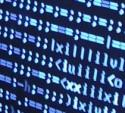 Computerscherm met onbegrijpelijke tekst