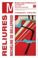 Affiche expo 'Reliures. Micheline de Bellefroid'