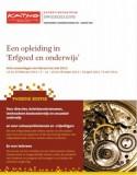 Voorpagina brochure opleiding 'Erfgoed en onderwijs'