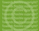 Copyright-teken met de tekst Towards flexible copyright