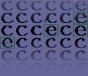 Verschillende vormen van 'e' en 'c'