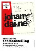 Affiche tentoonstelling '100 jaar Johan Daisne'