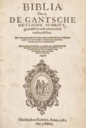 Titelpagina van 'Deux Aesbible' door Gillis van der Erven in Emden, 1562
