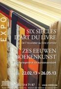 Affiche tentoonstelling 'Zes eeuwen boekenkunst'