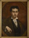 Geschilderd portret van Eekhoud door Houben