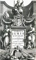 Titelpagina van een uitgave van de Corpus Iuris Civilis (1663)