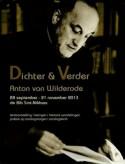 Affiche 'Dichter & Verder, Anton van Wilderode'