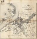 Plan der belegering van het kasteel van Antwerpen, 1853