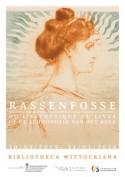 affiche met tekening van Armand Rassenfosse van dame met ros haar en dot