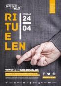 Poster Erfgoeddag 2016 met als thema Rituelen