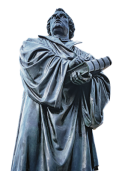 Bronzen standbeeld van Maarten Luther