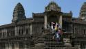Toeristen bezoeken UNESCO werelderfgoed Angkor