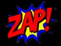 het woord Zap!