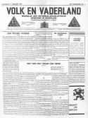 Volk en Vaderland. Krant van de Nationaal-Socialistische Beweging in Nederland