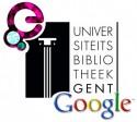 Logo's Europeana, Universiteitsbibliotheek Gent, Google