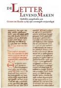 Voorpagina 'De letter levend maken'