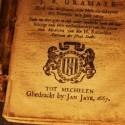 Titelpagina van een boek uit de tentoonstelling Gedrukte Stad