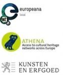 Logo's EuropeanaLocal, Athena & Kunsten en Erfgoed