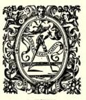 Drukkersmerk Plantin met passer en de spreuk 'Labore et Constantia'