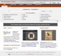 Schermafbeelding Website The European Library