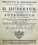 Rederijkersargument gedrukt te Oudenaarde in 1762 door Petrus Joannes Vereecken