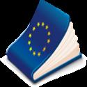 Boek met EU-vlag op omslag