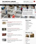 Homepage website British Library