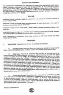 Pagina één van het contract