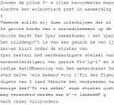 Voorbeeld van slecht omgezette digitale tekst