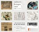Collage fragmenten Franse kranten