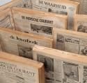 Leggers met ingebonden kranten