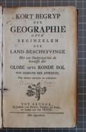 Titelpagina van 'Kort begryp der geographie' (STCV 12915862)