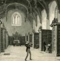 Tekening van het interieur van de bibliotheek