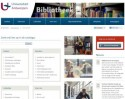 Screenshot webpagina Universiteitsbibliotheek Antwerpen