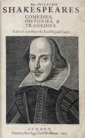 Shakespeare First Folio titelpagina