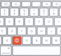 Copyright-knop in plaats van de C-knop op toetsebord